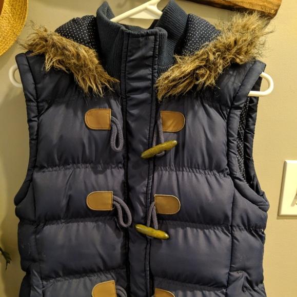 Jackets & Blazers - Blue Puffer Vest